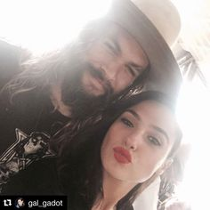 #Repost @gal_gadot ・・・ Kisses for #JasonMoma on his birthday! Glad to have you apart of the family 😘…