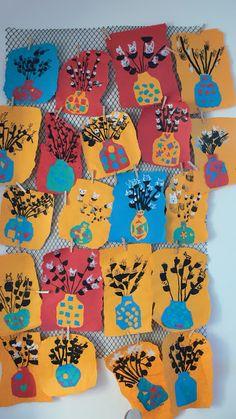 Art Lessons For Kids, Art For Kids, Kid Art, Spring Crafts For Kids, Spring Art, Kittens, Easter, Flowers, Montessori