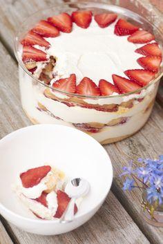 Ein Rezept für sommerliches Erdbeer Tiramisu. Ein Nachtisch der auch den Kindern schmeckt!