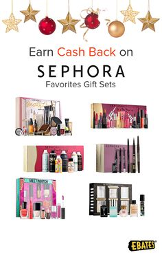 Score stocking stuffers that will make them feel stunning with Sephora gift sets. Help them get primped and pampered while you save with coupons, promo codes and Cash Back at Ebates gifts for her.