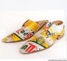 Cardboard shoes San Miguel  Mark O'Brien