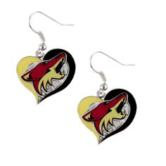 Arizona Coyotes Women's Swirl Heart Earrings