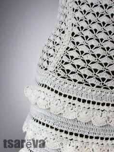 This exquisite handmade crochet dress is noble and unmistakably chic. Made of 100% organic mercerized cotton of beautiful milk color, it evokes the feelings of elegance of the British monarchy, yet looking fresh and modern. This dress will be perfect foy you as weddind, evening or other special occasion dress.  The top of the dress is made stretchly, it look beautiful a range of sizes.  The lenght of the skirt from belt is 37-38. But i could make it shorter or longer - as you wish.  Order it…