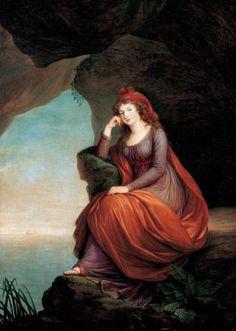 Portrait of Princess Maria Josefa Hermenegilde von Esterhazy as Ariadne on Naxos, Oil by Louise Elisabeth Vigée Le Brun (1755-1842, France)