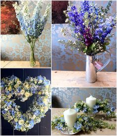 Flower School – 'Something Blue' Blue Wedding Flowers with Campbell's Flowers