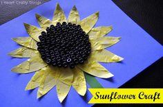 I HEART CRAFTY THINGS: Sunflower Craft