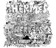Hermes X Kevin Lyons - Dessin