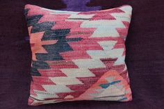 Couch pillow cover,Turkish Cushion,Vintage Kilim Rug Pillow,Throw pillow cover. #Turkish
