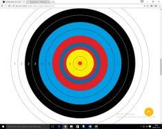 Viseur bien placé sur une cible de 60 cm à 18 m