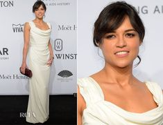 Michelle Rodriguez in Vivienne Westwood – 2015 amfAR New York Gala (needed higher heels and a smaller clutch)