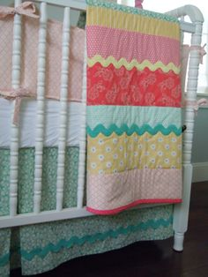 cutest patchwork blanket I've seen in ages! I love the candy colors