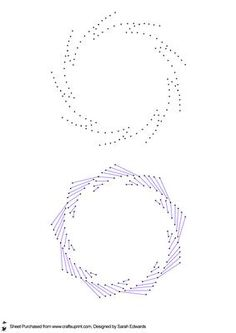 Abstract Circular Stitching Pattern on Craftsuprint designed by Sarah Edwards…