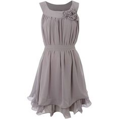 Sodamix Grey Corsage Dress