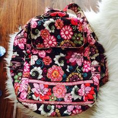 Vera Bradley Mod Floral Pink Backpack Vera Bradley Back Pack in Retired Pattern: Mod Floral Pink Beautiful backpack with tons of pockets and compartments for easy storage. Great bag for traveling, school, work, etc. no stains, great quality & will last forever! Bought bag for $98, asking for $40. Vera Bradley Bags Backpacks