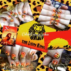 The Lion King nail art