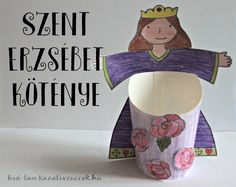 Híd-Tan : Szent Erzsébet köténye -- St Elisabeth of Hungary Jesus Is Life, Sunday School Kids, Catechist, Drink Sleeves, Catholic, Saints, Projects To Try, About Me Blog, Children