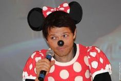 Mishka! Mushka! Misha Mouse!  Misha Collins/Disney crossover!  My life may be complete. not even sure where to pin this to