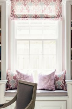 white, pink, grey in our client's study | Paloma Contreras Design