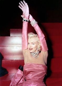 Marilyn Monroe Pink Dress
