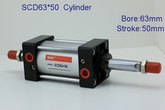 17.59$  Buy here - http://alif2l.shopchina.info/1/go.php?t=386781330 - Compressed air cylinder/Pneumatic cylinder double rod type cylinder  SCD63*50  #buyonlinewebsite