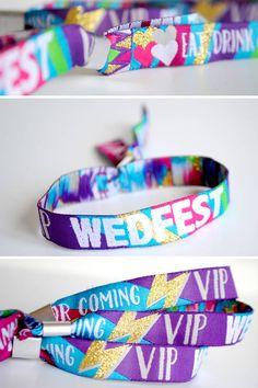 wedfest wedding festival wristbands