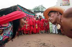 """Wayuu indians dance the """"Yonna"""" (traditional dance) at the Wayuu Cultural Festival in Uribia June 4, 2011. — Reuters pic"""