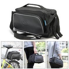 ROSWHEEL Bicycle Bag Bike Pannier Rear Rack Pack Tail Seat Trunk Double Pannier