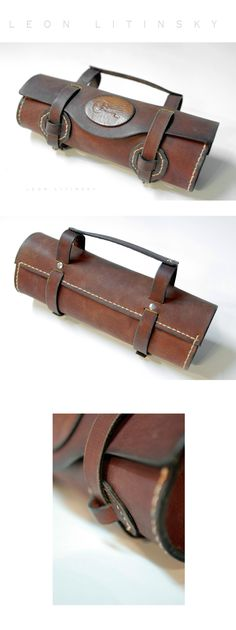 Leather Bicycle Bag by Leon Litinsky.
