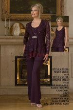 b595d5b4bfe Purple Lace Mother of the bridal groom pant suits dresses nmo-425 Mother Of