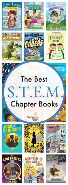 25 Best STEM (STEAM) Chapter Books for Kids #kids #childrensbooks