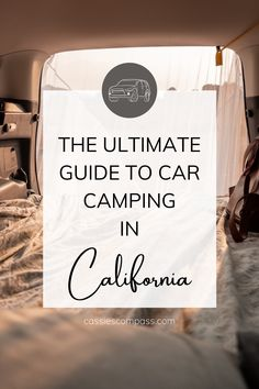 All the essentials and tips for car camping! Travel Ideas, Travel Inspiration, Windshield Shade, Sleeping In Your Car, Us Travel Destinations, Popular Photography, Camping Spots, California Travel, Usa Travel