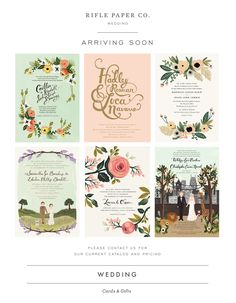 Beautiful stationary for your wedding! Invitations, place cards and all sorts of goodies at Rifle Paper Company!