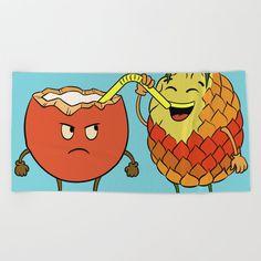 Text Design, Logo Design, Funny Fruit, Oversized Beach Towels, Wear Sunscreen, Cartoon Design, Meet The Artist, Good Mood, Cartoon Characters