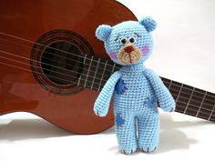 Ravelry: Patched Teddy Bear Pattern pattern by AllSoCute Seren