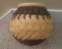 Black and White Round Basket