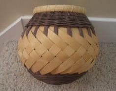 Black and White Round Basket