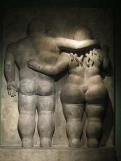 'Pareja' (Couple) (1993) by Colombian artist Fernando Botero (b.1932). collection: Museo Botero, Bogotá, Colombia. via Hanneorla Hanneorla on flickr