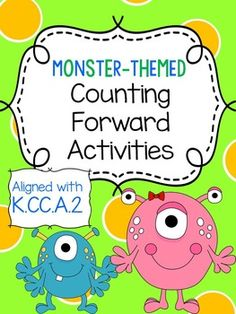 Counting Forward Activities - Updated 10/15/14!  Includes 7 activities for teaching about counting forward from a given number!
