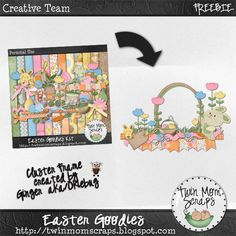 Matching EASTER GOODIES FREEBIE!  The Frame Cluster will be in TwinMomScraps SATURDAY NEWSLETTER; https://www.facebook.com/TwinMomScrap/app_100265896690345. 22/03/2013