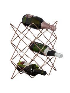 Buy John Lewis & Partners Scandi Copper Wine Rack, 9 Bottle from our Wine Racks range at John Lewis & Partners. Copper Wine Rack, Copper Accessories, Tactile Texture, Dinner Room, Buy Wine Online, Watercolor Sky, My Shopping List, Things To Buy, Stuff To Buy