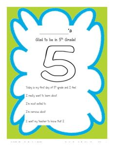 A quick activity page that students can do while you stand at the door and greet parents on the first day of school. Students can later share these...