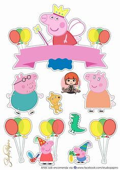Peppa Pig Stickers, Peppa Pig Imagenes, Activities For Kids, Crafts For Kids, George Pig, Crepe Paper Flowers, Kid Character, Printable Stickers, 3rd Birthday