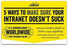 5 ways to ensure your intranet doesn't stink | Articles | Main