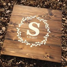 Wood Wedding Guestbook Alternative Unique Decor