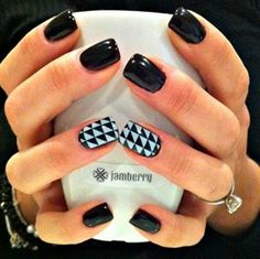Rock N Roll on gel nails www.berrysweet.jamberrynails.net