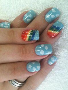 56 Ideas para que pintes tus uñas color celeste - light blue nails | Decoración de Uñas - Manicura y Nail Art