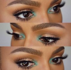 Eye shadow color and lashes to die for!!
