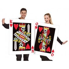 Going out as a couple for Halloween is fun and all the more exciting if you have costumes that match or that are each as scary as the other! It is like double trouble with a twist. Couple Halloween Costumes For Adults, Halloween Fancy Dress, Cool Halloween Costumes, Costume Shop, Double Trouble, Party Supplies, Going Out, Scary, Playing Cards
