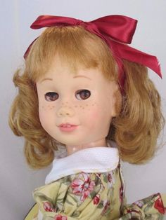 Rare CHATTY CATHY Blonde Pigtail Soft Face Brown Eyes  TALKS FREE SHIPPING #Mattel #DollswithClothingAccessories
