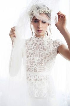 What an interesting wedding gown
